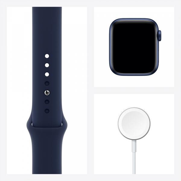 Apple Watch Series 6 GPS 44mm Blue Alum Case Deep Navy Sport Band 6