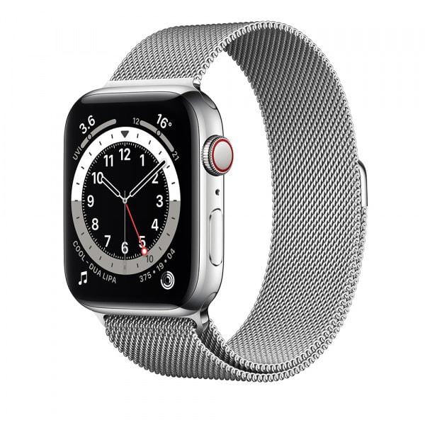 Apple Watch Series 6 GPS + Cellular 44mm Silver S. Steel Case Silver Milanese Loop 0