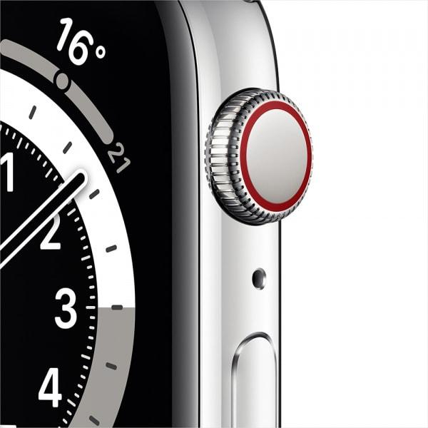 Apple Watch Series 6 GPS + Cellular 44mm Silver S. Steel Case Silver Milanese Loop 1