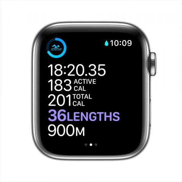 Apple Watch Series 6 GPS + Cellular 44mm Silver S. Steel Case Silver Milanese Loop 3