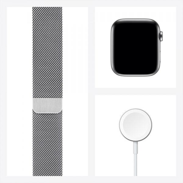 Apple Watch Series 6 GPS + Cellular 44mm Silver S. Steel Case Silver Milanese Loop 6