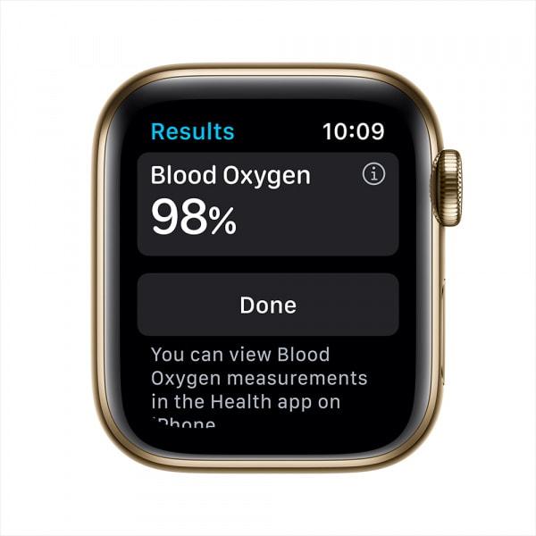 Apple Watch Series 6 GPS + Cellular 44mm Gold S. Steel Case Cyprus Green Sport Band (EOL) 2