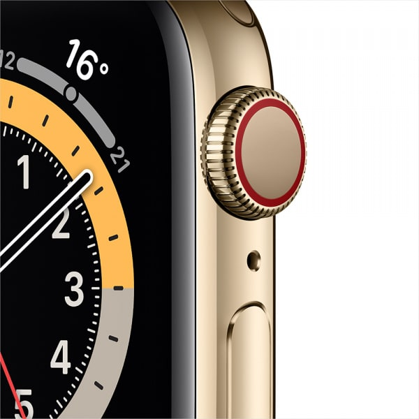 Apple Watch Series 6 GPS + Cellular 44mm Gold S. Steel Case Gold Milanese Loop 1