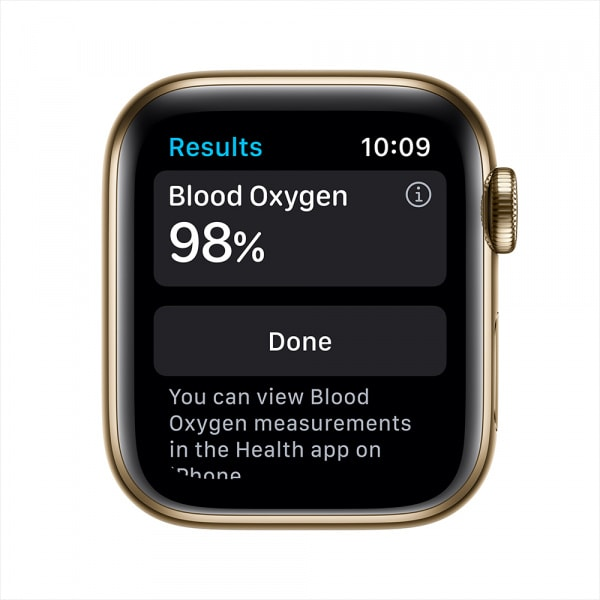 Apple Watch Series 6 GPS + Cellular 44mm Gold S. Steel Case Gold Milanese Loop 2
