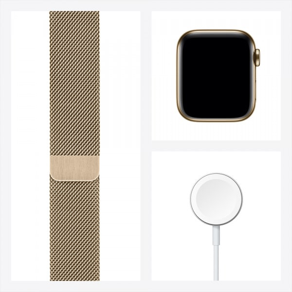 Apple Watch Series 6 GPS + Cellular 44mm Gold S. Steel Case Gold Milanese Loop 6