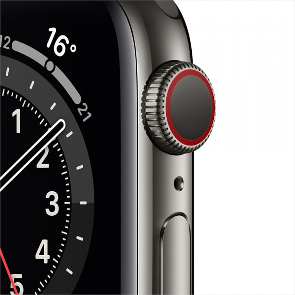 Apple Watch Series 6 GPS + Cellular 44mm Graphite S. Steel Case Black Sport Band 1