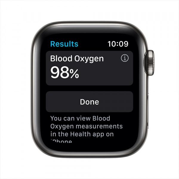 Apple Watch Series 6 GPS + Cellular 44mm Graphite S. Steel Case Black Sport Band 2
