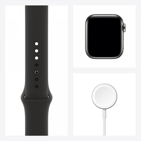 Apple Watch Series 6 GPS + Cellular 44mm Graphite S. Steel Case Black Sport Band 6