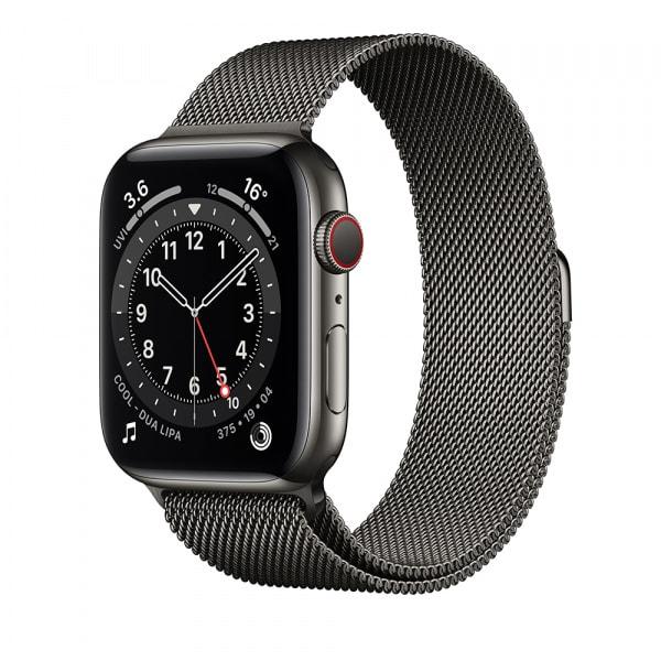 Apple Watch Series 6 GPS + Cellular 44mm Graphite S. Steel Case Graphite Milanese Loop (EOL) 0