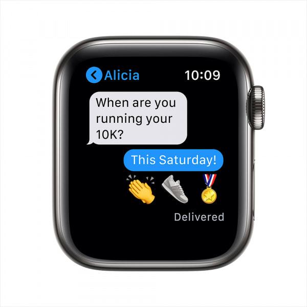 Apple Watch Series 6 GPS + Cellular 44mm Graphite S. Steel Case Graphite Milanese Loop (EOL) 4