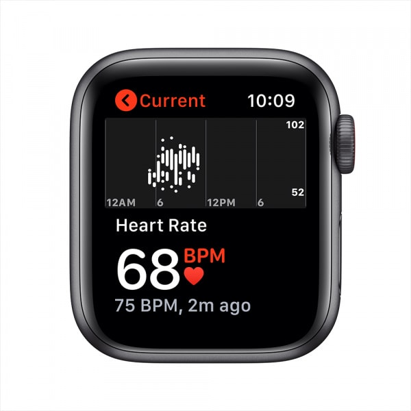 Apple Watch Nike SE GPS + Cellular 40mm Space Gray Alum Case Anthracite/Black Nike Sport Band (EOL) 3