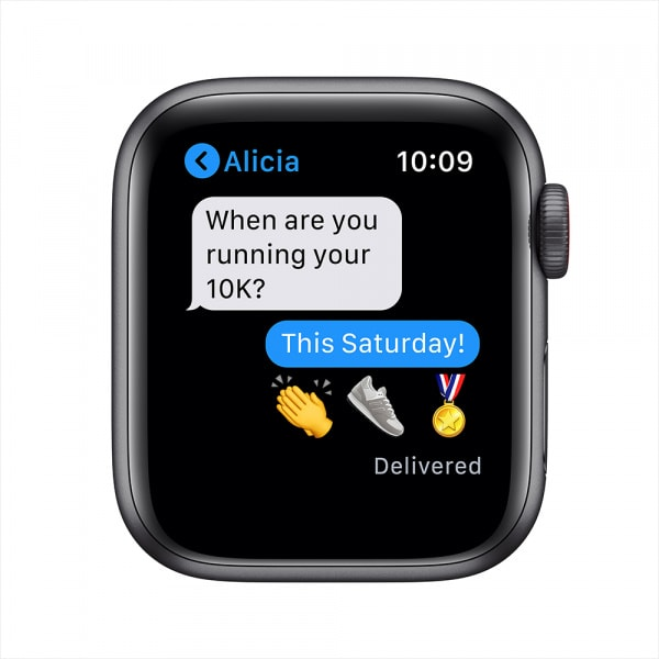 Apple Watch Nike SE GPS + Cellular 40mm Space Gray Alum Case Anthracite/Black Nike Sport Band (EOL) 5