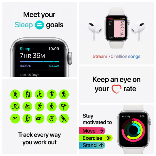 Apple Watch Nike SE GPS + Cellular 40mm Space Gray Alum Case Anthracite/Black Nike Sport Band (EOL) 6