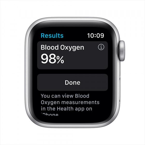 Apple Watch Nike Series 6 GPS 44mm Silver Alum Case Pure Platinum/Black Nike Sport Band 2