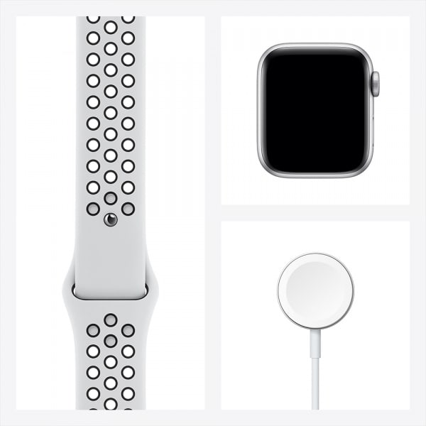 Apple Watch Nike Series 6 GPS 44mm Silver Alum Case Pure Platinum/Black Nike Sport Band 6