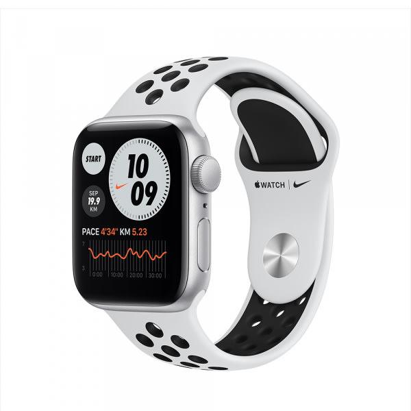 Apple Watch Nike SE GPS 40mm Silver Alum Case Pure Platinum/Black Nike Sport Band (EOL) 0