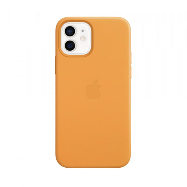 Apple iPhone 12   12 Pro Leather Case with MagSafe - California Poppy (EOL) 0