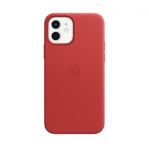 Apple iPhone 12 | 12 Pro Leather Case with MagSafe - (PRODUCT)RED (EOL) 0