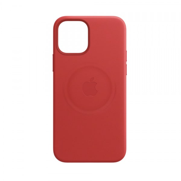 Apple iPhone 12 | 12 Pro Leather Case with MagSafe - (PRODUCT)RED (EOL) 4