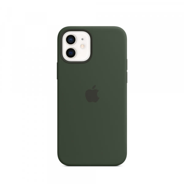 Apple iPhone 12   12 Pro Silicone Case with MagSafe - Cypress Green (EOL) 0