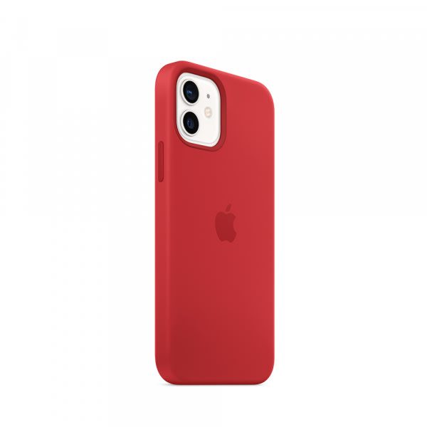 Apple iPhone 12   12 Pro Silicone Case with MagSafe - (PRODUCT)RED (EOL) 1