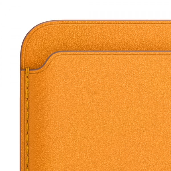 Apple iPhone Leather Wallet with MagSafe - California Poppy (EOL) 2