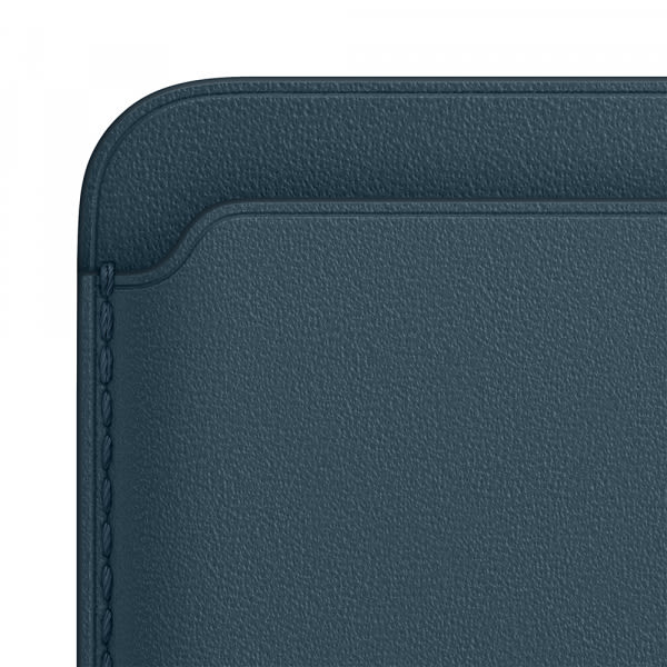 Apple iPhone Leather Wallet with MagSafe - Baltic Blue (EOL) 2