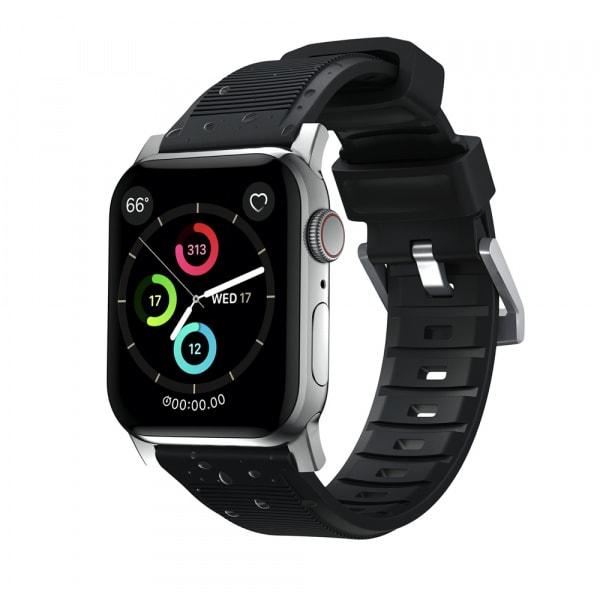 NOMAD Rugged Silicone Sports Strap(FKM) Apple Watch 40/38mm Silver HW 2