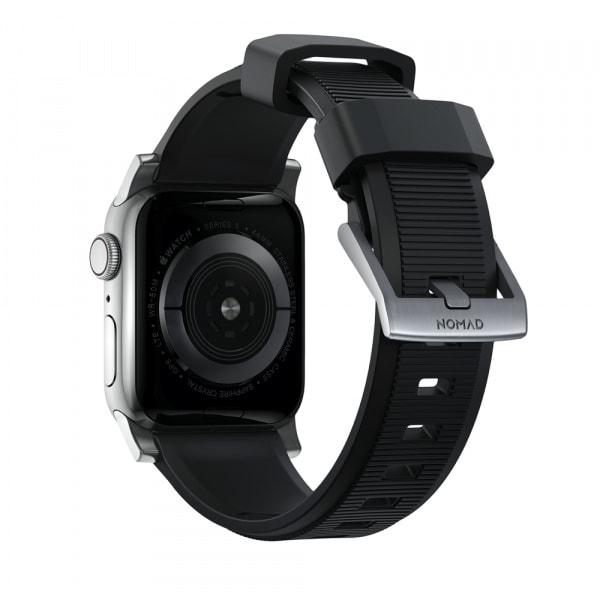 NOMAD Rugged Silicone Sports Strap(FKM) Apple Watch 40/38mm Silver HW 0