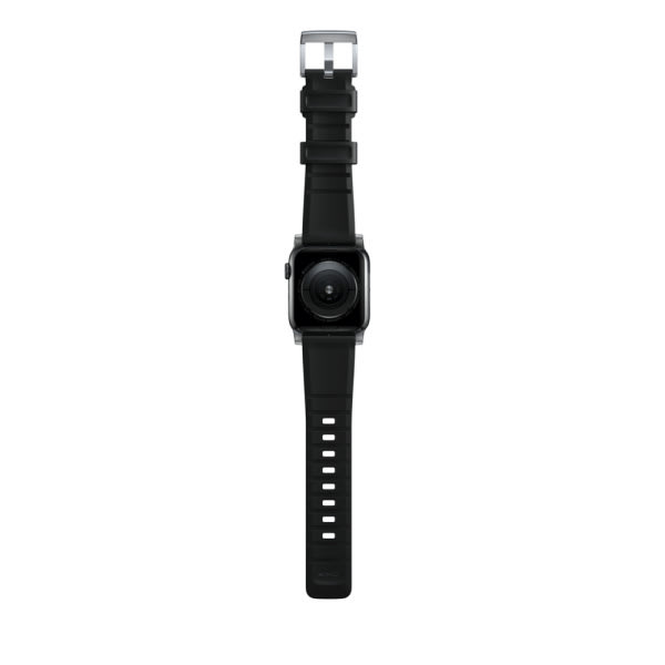 NOMAD Rugged Silicone Sports Strap(FKM) Apple Watch 40/38mm Silver HW 8