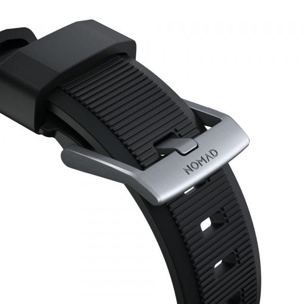 NOMAD Rugged Silicone Sports Strap(FKM) Apple Watch 40/38mm Silver HW 6