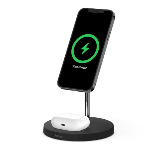 Belkin BOOST CHARGE PRO 2-in-1 MagSafe Charger - Black- 3-UK Pin 1