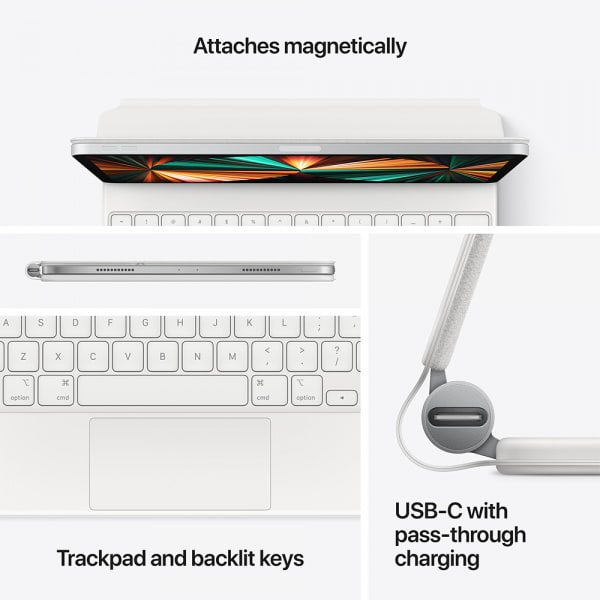 Apple Magic Keyboard iPad Pro 11 (3rd Gen)/iPad Air (4th Gen) US English White 5