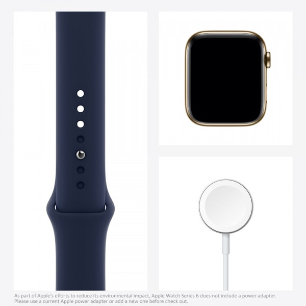 Apple Watch Series 6 GPS + Cellular 44mm Gold S. Steel Case Deep Navy Sport Band 6