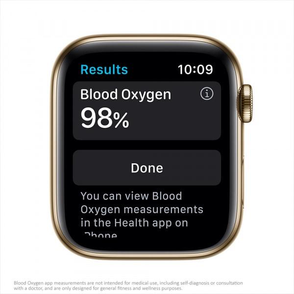 Apple Watch Series 6 GPS + Cellular 44mm Gold S. Steel Case Deep Navy Sport Band 2