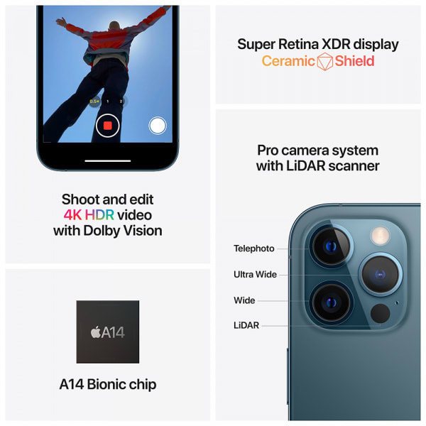Apple iPhone 12 Pro Max 128GB Pacific Blue (EOL)  6