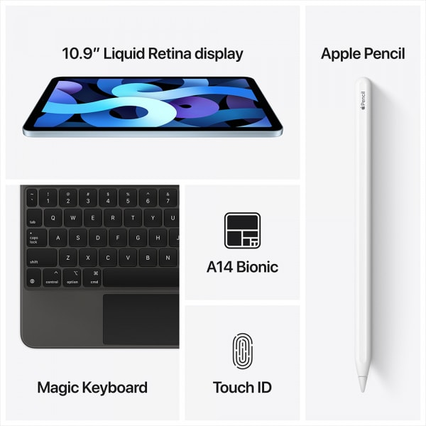 Apple iPad Air 10.9 Wi-Fi 64GB - Sky Blue  5
