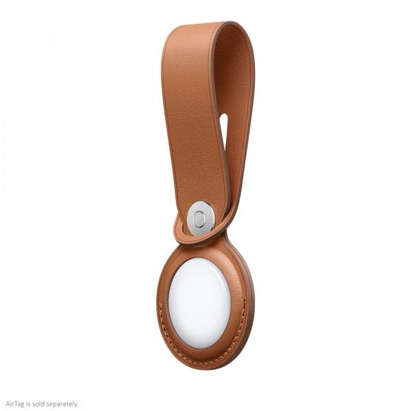 Apple AirTag Leather Loop Saddle Brown  2