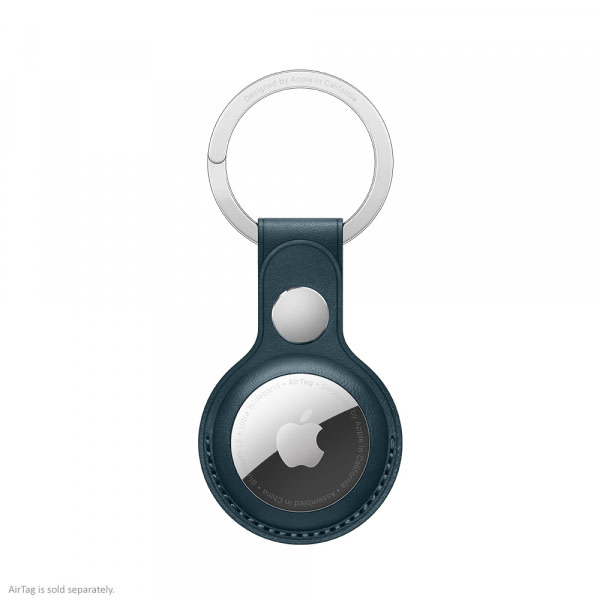 Apple AirTag Leather Key Ring Baltic Blue  0