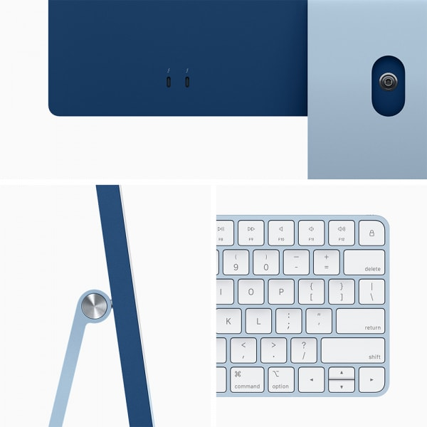 Apple iMac 24 Retina 4.5K M1 8cCPU/7cGPU/8GB/256GB Blue  3