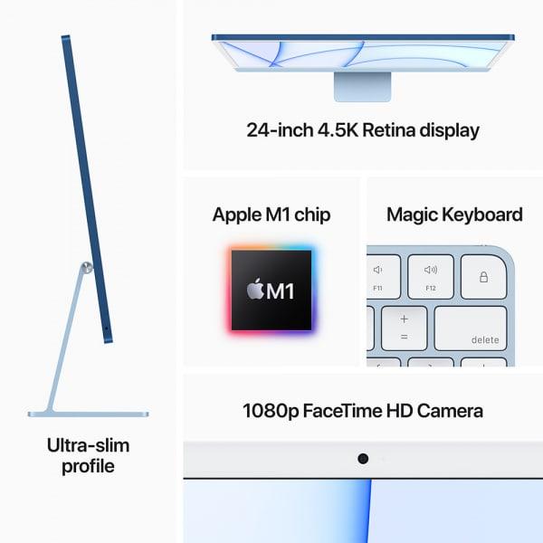 Apple iMac 24 Retina 4.5K M1 8cCPU/7cGPU/8GB/256GB Blue  5