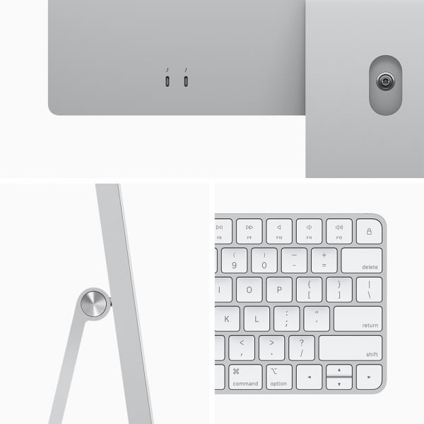 Apple iMac 24 Retina 4.5K M1 8cCPU/7cGPU/8GB/256GB Silver  3
