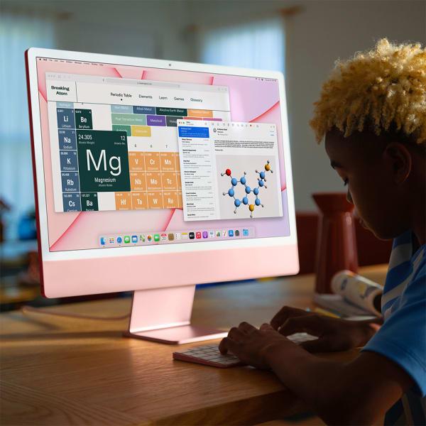 Apple iMac 24 Retina 4.5K M1 8cCPU/7cGPU/8GB/256GB Silver  4
