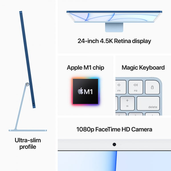 Apple iMac 24 Retina 4.5K M1 8cCPU/7cGPU/8GB/256GB Silver  5