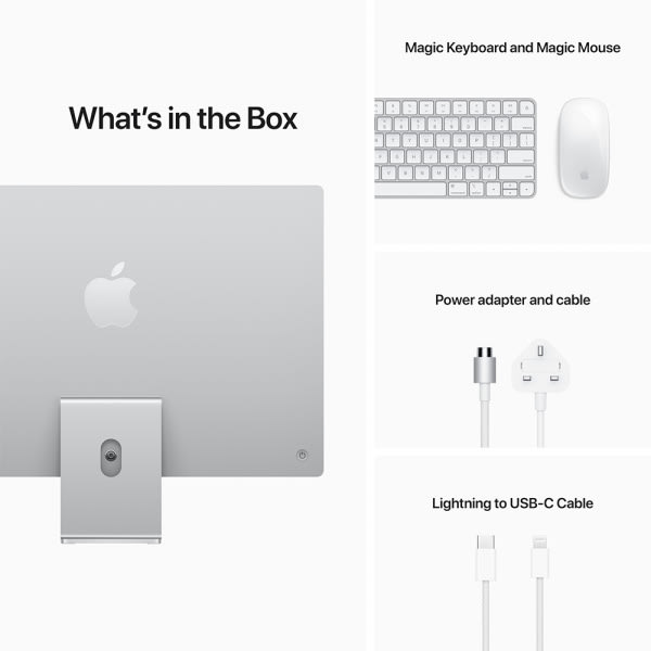 Apple iMac 24 Retina 4.5K M1 8cCPU/7cGPU/8GB/256GB Silver  8