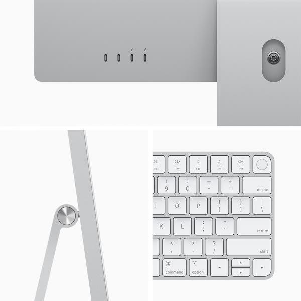 Apple iMac 24 Retina 4.5K M1 8cCPU/8cGPU/8GB/256GB Silver  3