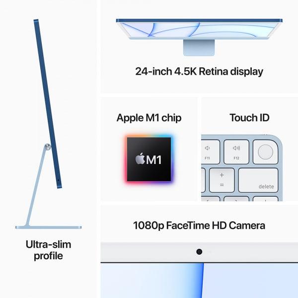 Apple iMac 24 Retina 4.5K M1 8cCPU/8cGPU/8GB/256GB Silver  5