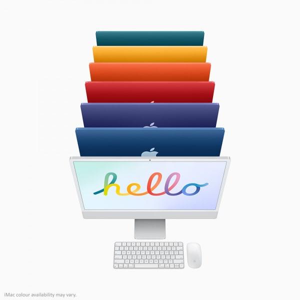 Apple iMac 24 Retina 4.5K M1 8cCPU/8cGPU/8GB/256GB Silver  6