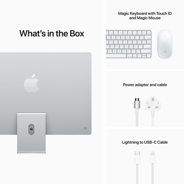 Apple iMac 24 Retina 4.5K M1 8cCPU/8cGPU/8GB/256GB Silver  8