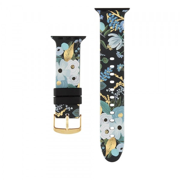 Rifle Paper Watch Strap 42-44mm Band - Garden Party Blue  0